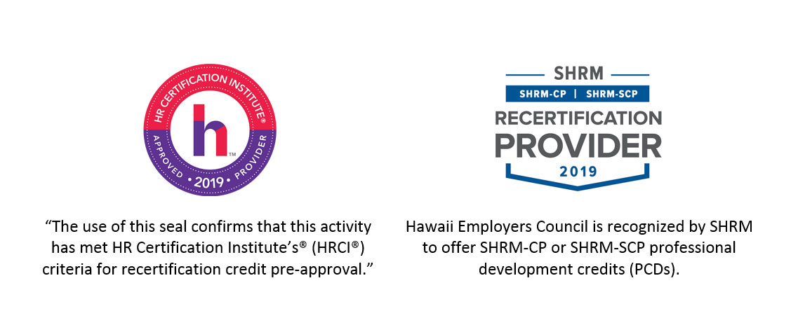 Hawaii Employers Council Human Resources Training